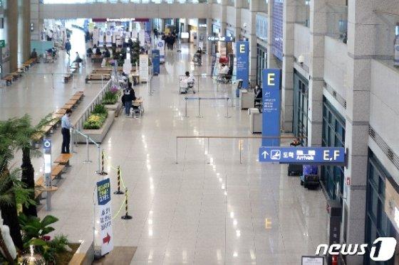 인천국제공항 입국장 모습. 2020.4.13/뉴스1 © News1 황기선 기자