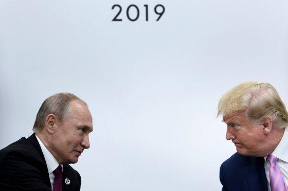 블라디미르 푸틴 러시아 대통령과 도널드 트럼프 미국 대통령/사진=AFP
