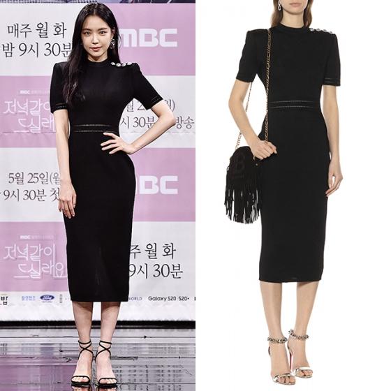 손나은, 블랙 미디 드레스 입고…잘록한 허리 '눈길' | 스타일M