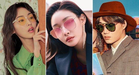 배우 전소니, 가수 청하, 엑소 카이 /사진제공=래쉬, 키블리, 구찌 아이웨어 제공