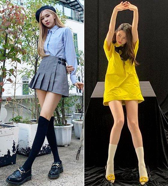 그룹 블랙핑크 로제, 배우 한소희/사진=각 스타 인스타그램