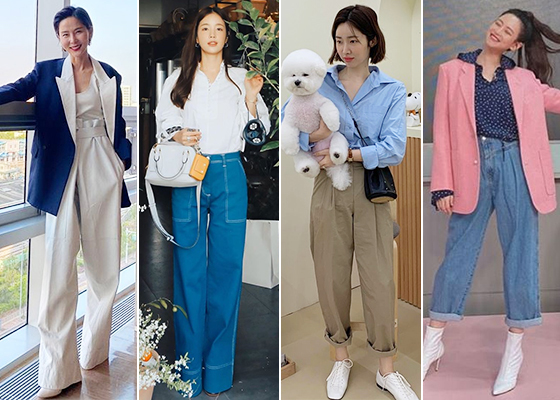 방송인 김나영, 배우 기은세, 차정원, 오연서/사진=각 스타 인스타그램
