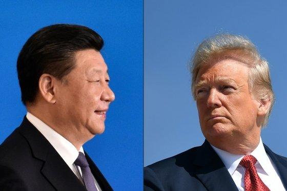 시진핑 중국 국가주석(왼쪽)과 도널드 트럼프 미국 대통령(오른쪽). /AFPBBNews=뉴스1