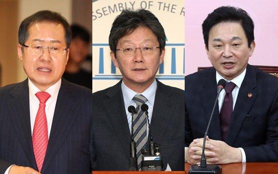 왼쪽부터 홍준표 전 자유한국당 대표, 유승민 미래통합당 의원, 원희룡 제주도지사./사진=머니투데이DB
