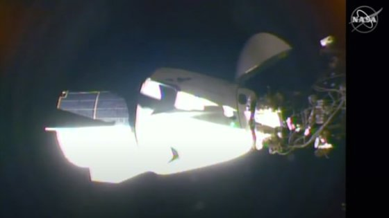 스페이스X 로켓이 쏘아 올린 미국의 첫 민간 유인우주선 '크루 드래건'이 국제우주정거장(ISS)에 도킹했다./사진=NASA(미 항공우주국)