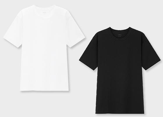 유니클로 에어리즘 코튼 크루넥 티셔츠/사진제공=유니클로(UNIQLO)