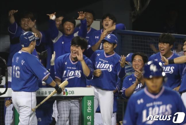 [★현장리뷰] '이원석 8타점 불쇼' 삼성 6위 점프, LG 7연속 위닝 저지