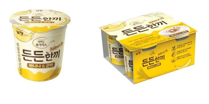 [신상품라운지]식사대용 든든한끼 '바나나&곤약' 곡물요거트