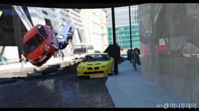지진 체험 VR 교육프로그램/사진제공=대한안전교육협회