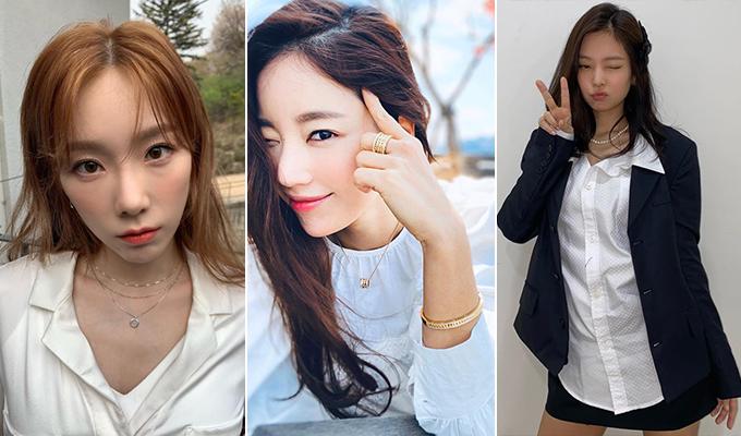 /사진=가수 태연, 배우 기은세, 그룹 블랙핑크 제니 인스타그램