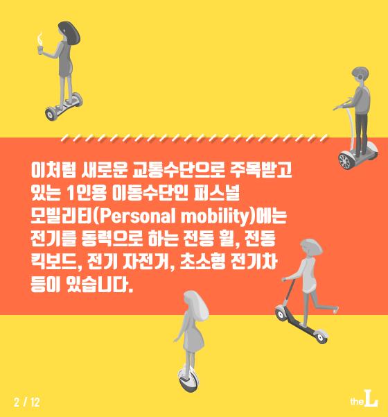 [카드뉴스] 전동 킥보드, 자전거도로 달려도 되나요?
