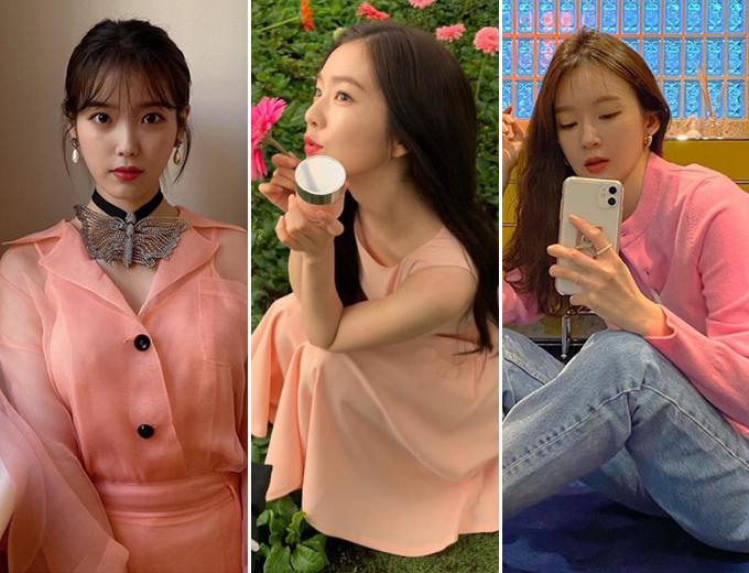 가수 아이유, 레드벨벳 아이린, 다비치 강민경 /사진=인스타그램