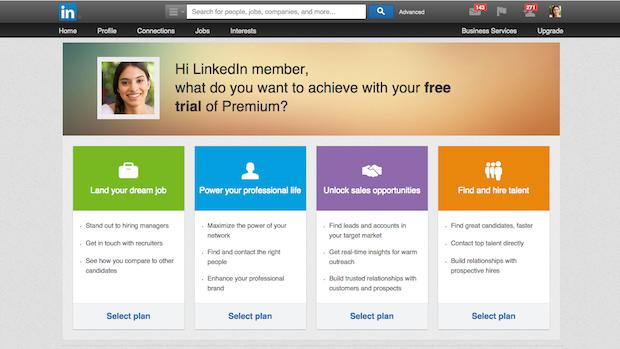 링크드인의 프리미엄 서비스 / 사진제공=Linkedin