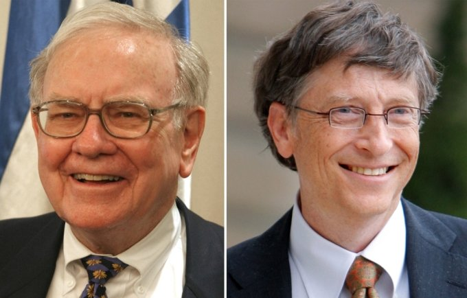 워런 버핏 버크셔 해서웨이 회장(왼쪽)과 빌 게이츠 마이크로소프트(MS) 공동 창업자. /사진=AFP