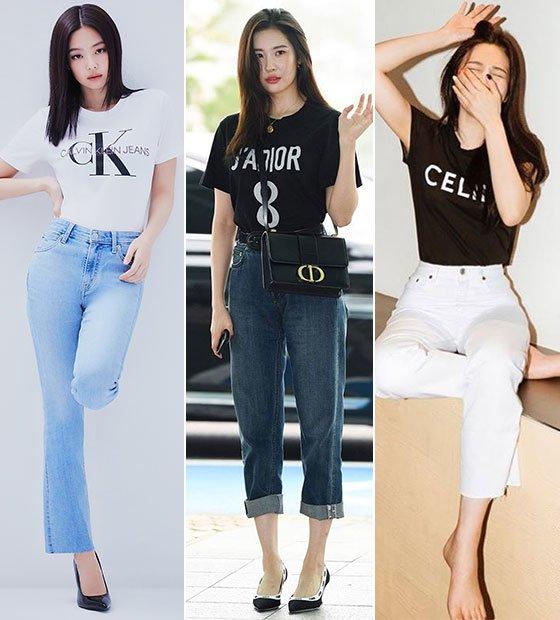 제니·수지·설현 Pick!…요즘 힙한 '로고 티셔츠' 스타일