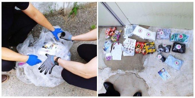 이재명 경기도지사가 대북전단 낙하물이 의정부 한 가정집에서 발견됐다며 지난 18일 페이스북에 사진을 올렸다. /사진=이재명 경기도지사 페이스북