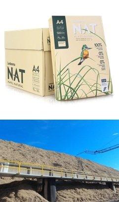 버려졌던 사탕수수 부산물(bagasse)을 이용해 만든 복사용지/사진제공=에코매스