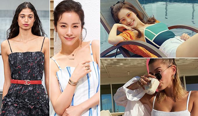 /사진=샤넬 2020 S/S 컬렉션, 배우 한지민(골든듀), 모델 헤일리 비버 인스타그램, 퍼스트룩(이유비)