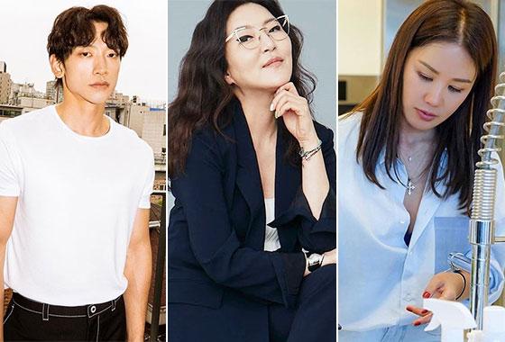 가수 비, 스타일리스트 한혜연, 가수 엄정화/사진=각 스타 인스타그램
