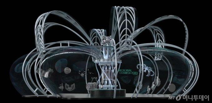 현대차그룹-RISD 미래 모빌리티 디자인 공동연구 '그래픽 디자인 연구팀'이 제안한 '인간과 자연이 공존하는 미래 모빌리티 허브' 디자인 프로젝트/사진제공=현대차그룹