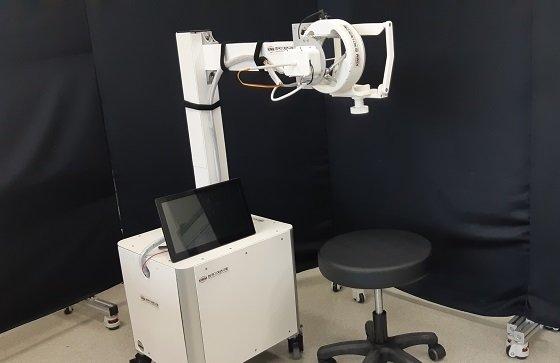 한국기계연구원 서준호 박사 연구팀이 개발한 비대면 원격 검체 채취 시스템의 슬레이브 로봇 부분/사진=기계연
