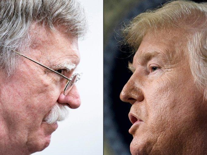 존 볼턴 전 백악관 국가안보보좌관(왼쪽)과 도널드 트럼프 미국 대통령(오른쪽). /사진=AFP