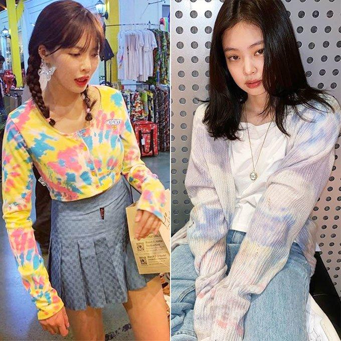 가수 현아, 그룹 블랙핑크 제니/사진=각 스타 인스타그램