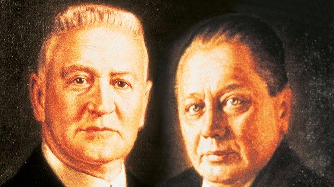 밀레 창업자인 칼 밀레(Karl Miele, 사진 왼쪽)와 라인하르트 진칸(Reinhard Zinkann)/사진=밀레 홈페이지