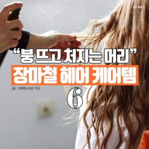 [카드뉴스] 붕 뜨고 처지는 머리…장마철 헤어 케어템 6