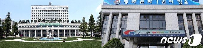 부천시청(왼쪽)·김포시청(오른쪽)사 전경/뉴스1 © News1 박아론 기자