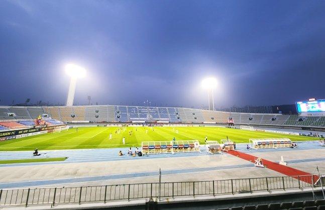 1일 수원FC와 인천의 FA컵 3라운드 경기가 열린 수원종합운동장. /사진=김우종 기자
