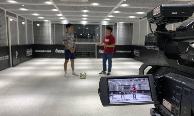 지난달 27일 서울 마포구 연남동에서 진행된 '동네축구 고수' 인터뷰 현장. /사진=김지성 기자