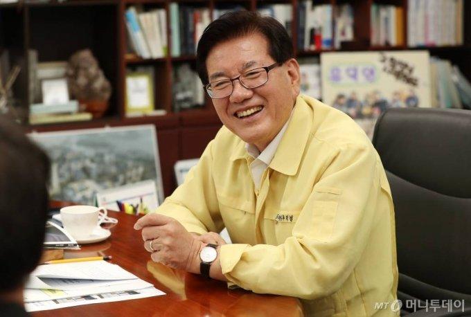 유덕열 동대문구청장 인터뷰./사진=김휘선 기자