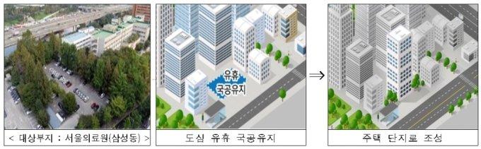 삼성동 서울의료원 부지 주택단지 개발 구상도. /자료=서울시