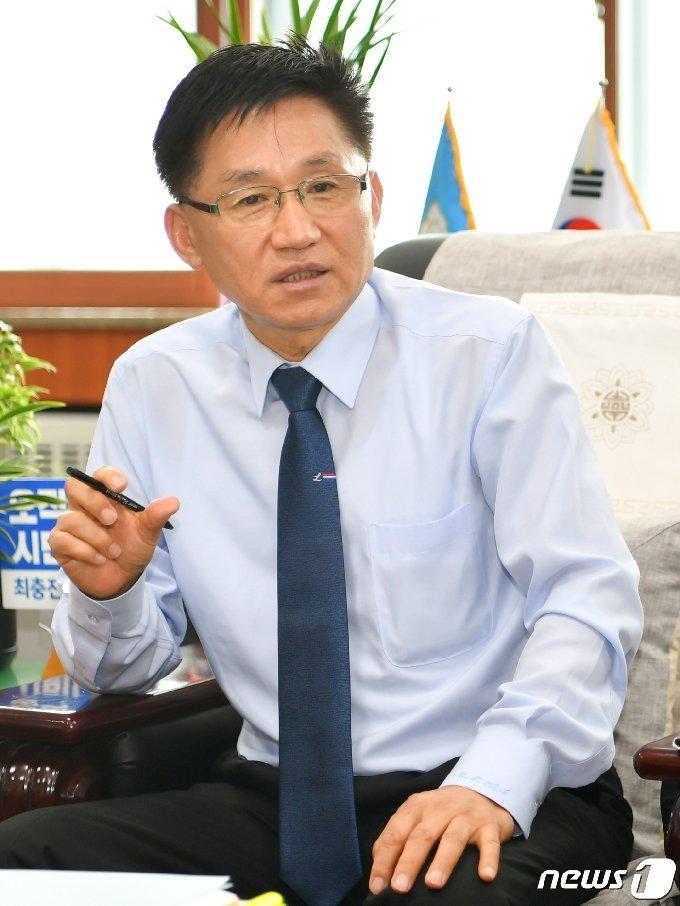 최충진 충북 청주시의회 의장© 뉴스1