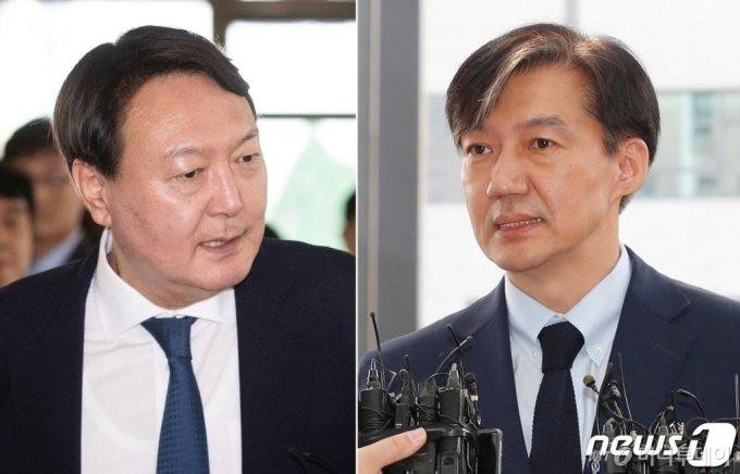 윤석열 검찰총장과 조국 전 법무부 장관/사진=뉴스1
