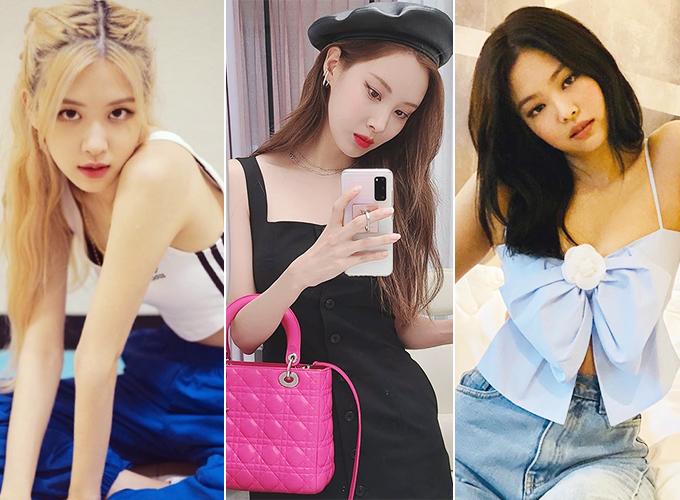 그룹 블랙핑크 로제, 가수 겸 배우 서현, 블랙핑크 제니/사진=각 스타 인스타그램