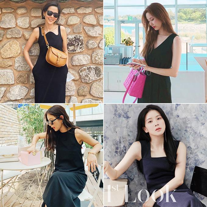 (왼쪽부터 시계 방향으로) 방송인 김나영, 가수 겸 배우 서현, 배우 이보영, 기은세/사진=각 스타 인스타그램, 퍼스트룩