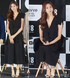 'SF8' 유이, 우아한 브이넥 드레스 자태…발끝 '포인트'