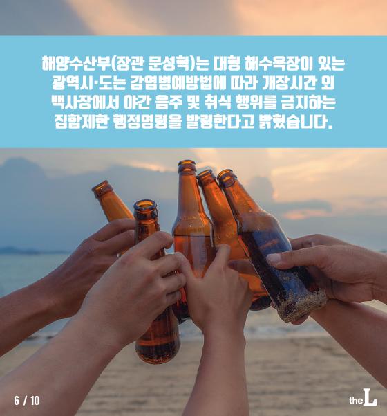 [카드뉴스] 올해 해수욕장에서는 밤에 술 안돼요!