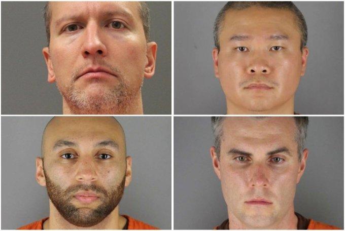 데릭 쇼빈(44), 투 타오(34), 토마스 레인(37), 알렉산더 킹(26). (왼쪽 위부터 시계방향으로) /사진=로이터