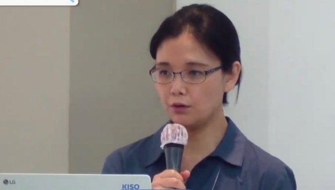 한국인터넷자율정책기구(KISO)가 9일 개최한 포럼에서 김수아 서울대 언론정보학과 교수가 발제를 하고 있다./ 유튜브 온라인 생중계 캡처