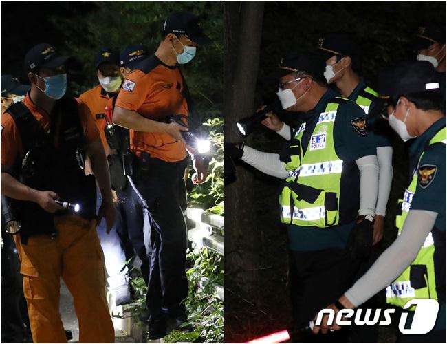 [사진] 경찰·소방 770여명 박원순 철야수색 돌입