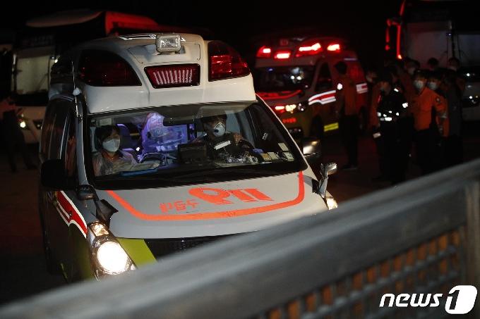 [사진] 이동하는 구급차