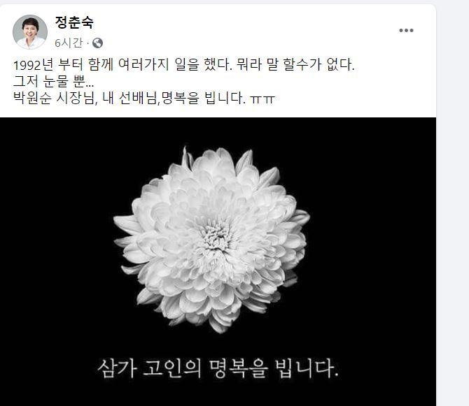 정춘숙 더불어민주당 의원 10일 페이스북 /사진=페이스북 캡처