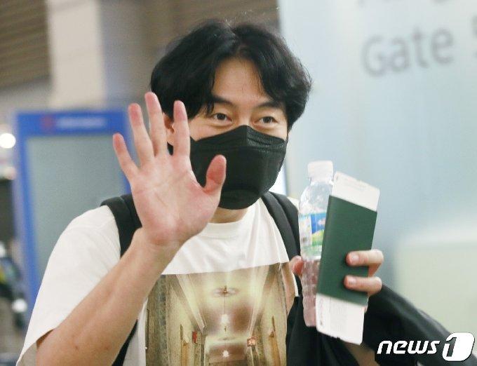 [사진] 박형수 '교섭' 촬영 잘 다녀올게요