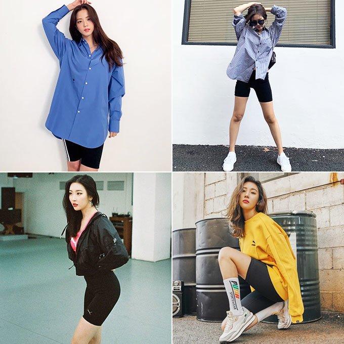 (왼쪽부터 시계 방향으로)그룹 블랙핑크 지수, 제니, 가수 선미/사진=각 스타 인스타그램, 푸마
