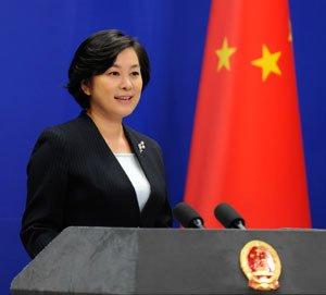 화춘잉 중국 외교부 대변인 - 중국 외교부 홈페이지 갈무리