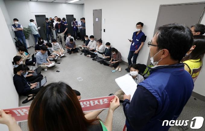[사진] 민주노총 '최저임금위 전원회의 불참'