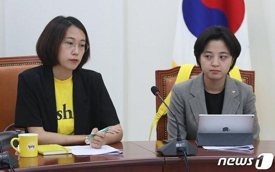 정의당 장혜영(왼쪽), 류호정 의원. /사진=뉴스1.